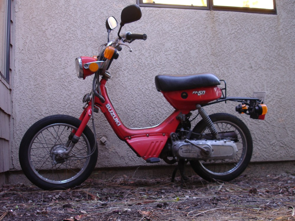 medium resolution of suzuki fa50 moped teardown