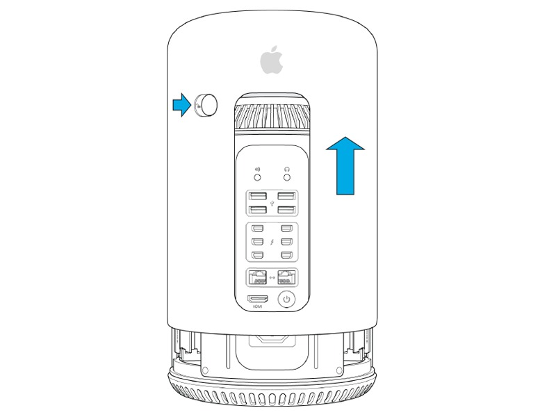 Mac Pro Late 2013 Enclosure Latch Replacement for Cable