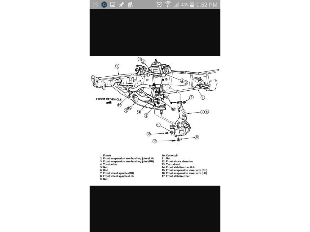 medium resolution of disassembling 1989 1992 ford ranger front suspension