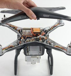 removing dji phantom 2 vision case top shell [ 5069 x 3802 Pixel ]