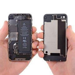 Back Of Iphone 4s Diagram 2006 Gmc Sierra Stereo Wiring Battery Replacement Ifixit Repair Guide Pull The Rear Panel Away From Being Careful Not To