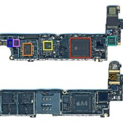 Iphone 4 Screw Layout Diagram Electric Tankless Water Heater Wiring Logic Board Description Verizon Teardown Ifixit