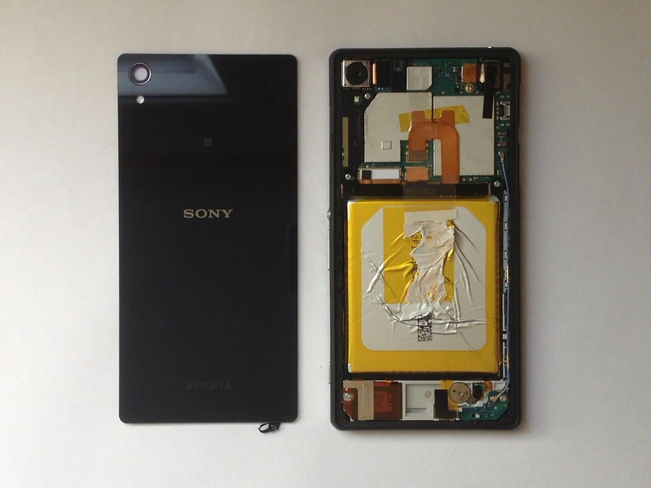hight resolution of rear battery cover sony xperia