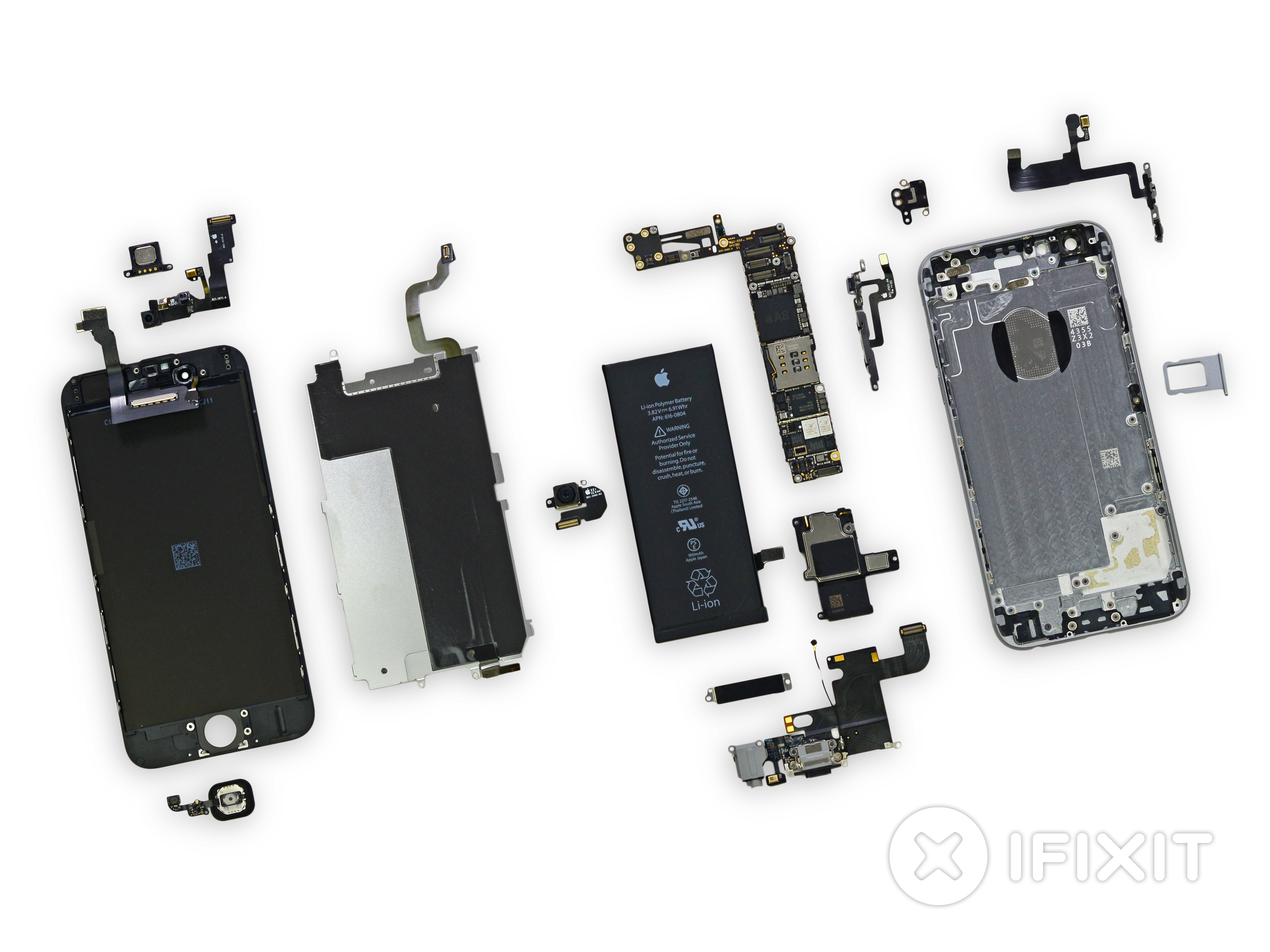 iphone 4 screw layout diagram goodman wiring air conditioner 6 teardown ifixit