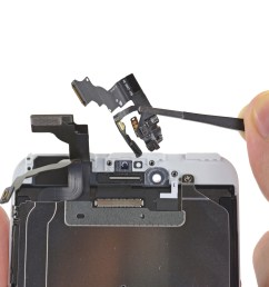 iphone 6 plus front facing camera and sensor assembly replacement ifixit repair guide [ 4912 x 3684 Pixel ]