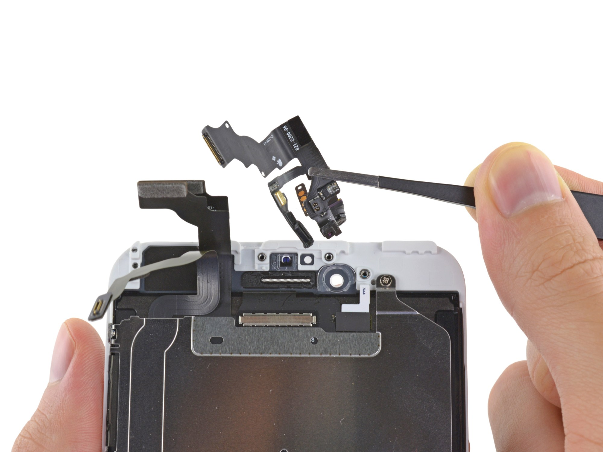 hight resolution of iphone 6 plus front facing camera and sensor assembly replacement ifixit repair guide