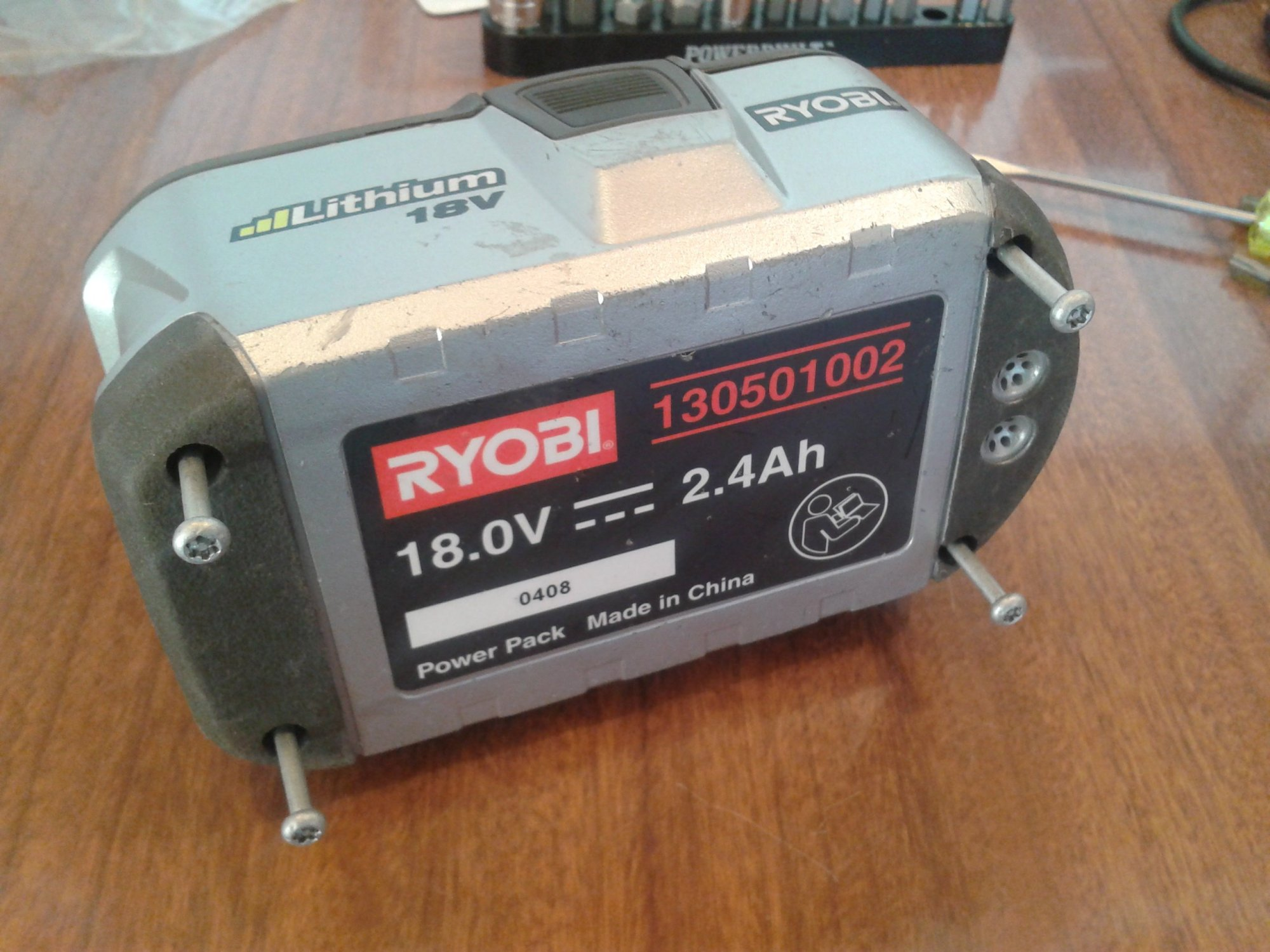 hight resolution of cell re balance of ryobi one 18v li ion battery 130501002