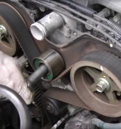 1995 2002 toyota 4runner 3 4l timing belt water pump replacement 1995  [ 1756 x 1317 Pixel ]