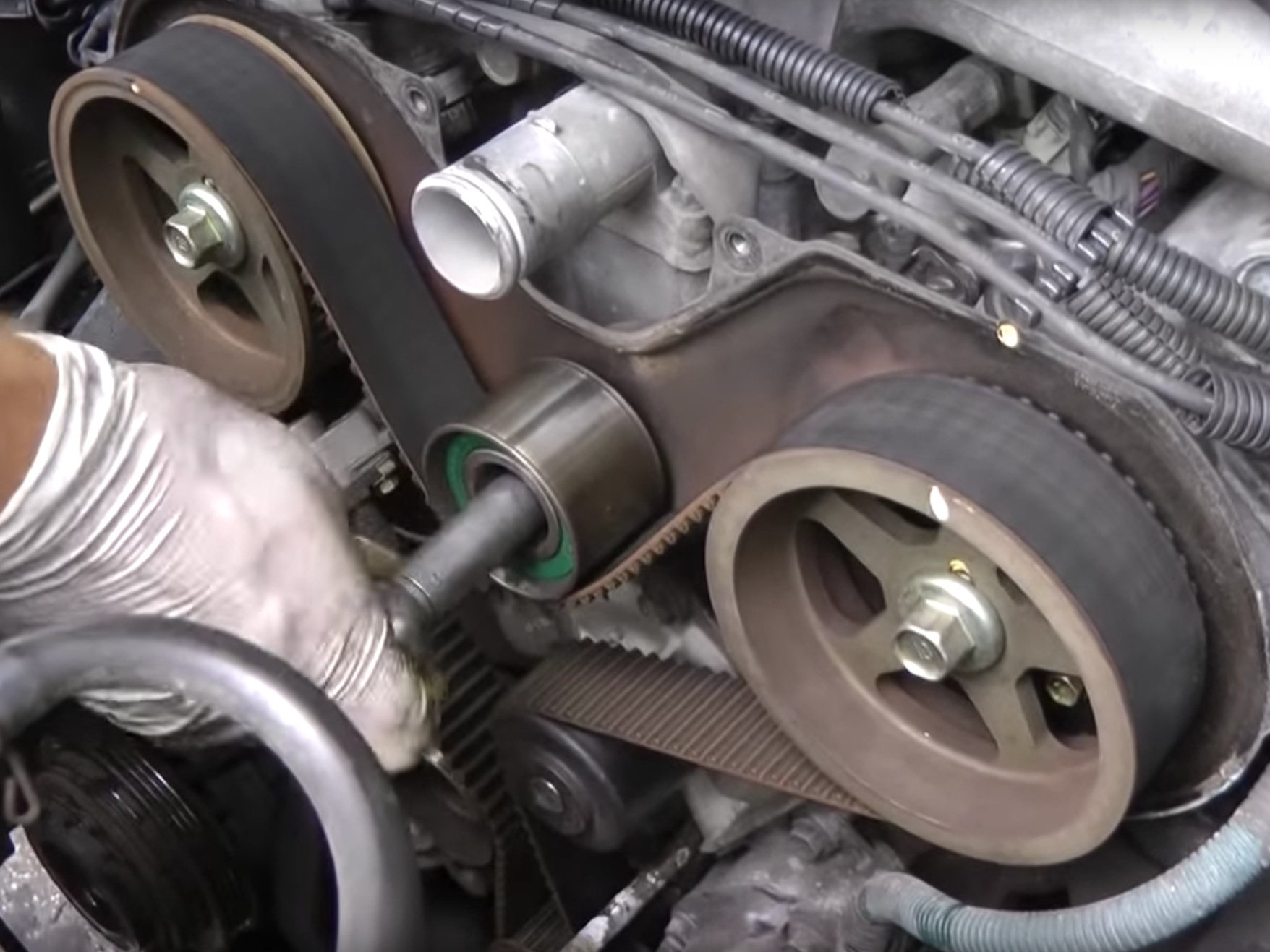 hight resolution of 1995 2002 toyota 4runner 3 4l timing belt water pump replacement 1995