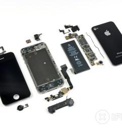 iphone 4 verizon teardown ifixit iphone 5 inside detailed diagram iphone 4 inside diagram [ 3360 x 2520 Pixel ]