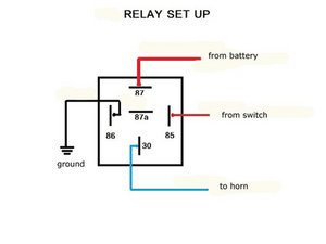 Wiring A Horn Without Relay 12v horn relay diagram 4 pin