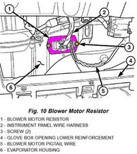 2009 Mini Cooper Blower Motor Resistor Location