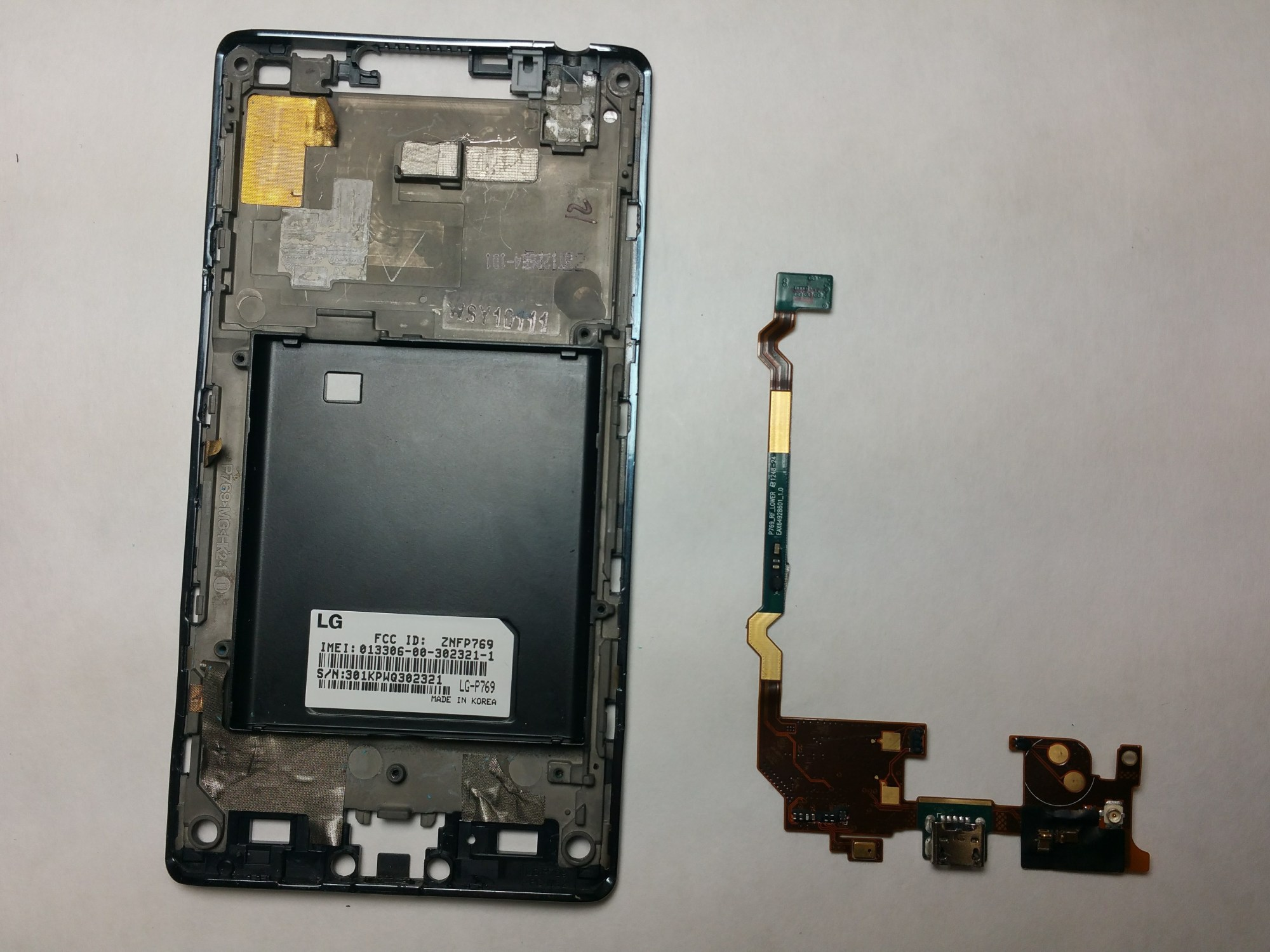 hight resolution of lg optimus l9 p769 micro usb port replacement ifixit repair guide