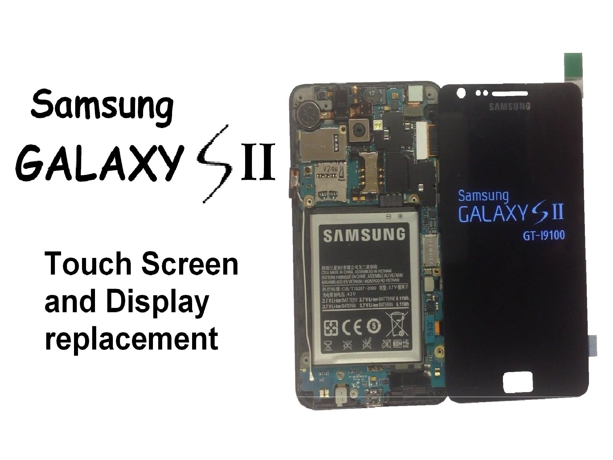 hight resolution of front glass and digitizer samsung galaxy s ii ifixit front glass and digitizer samsung galaxy usb wiring diagram pdf