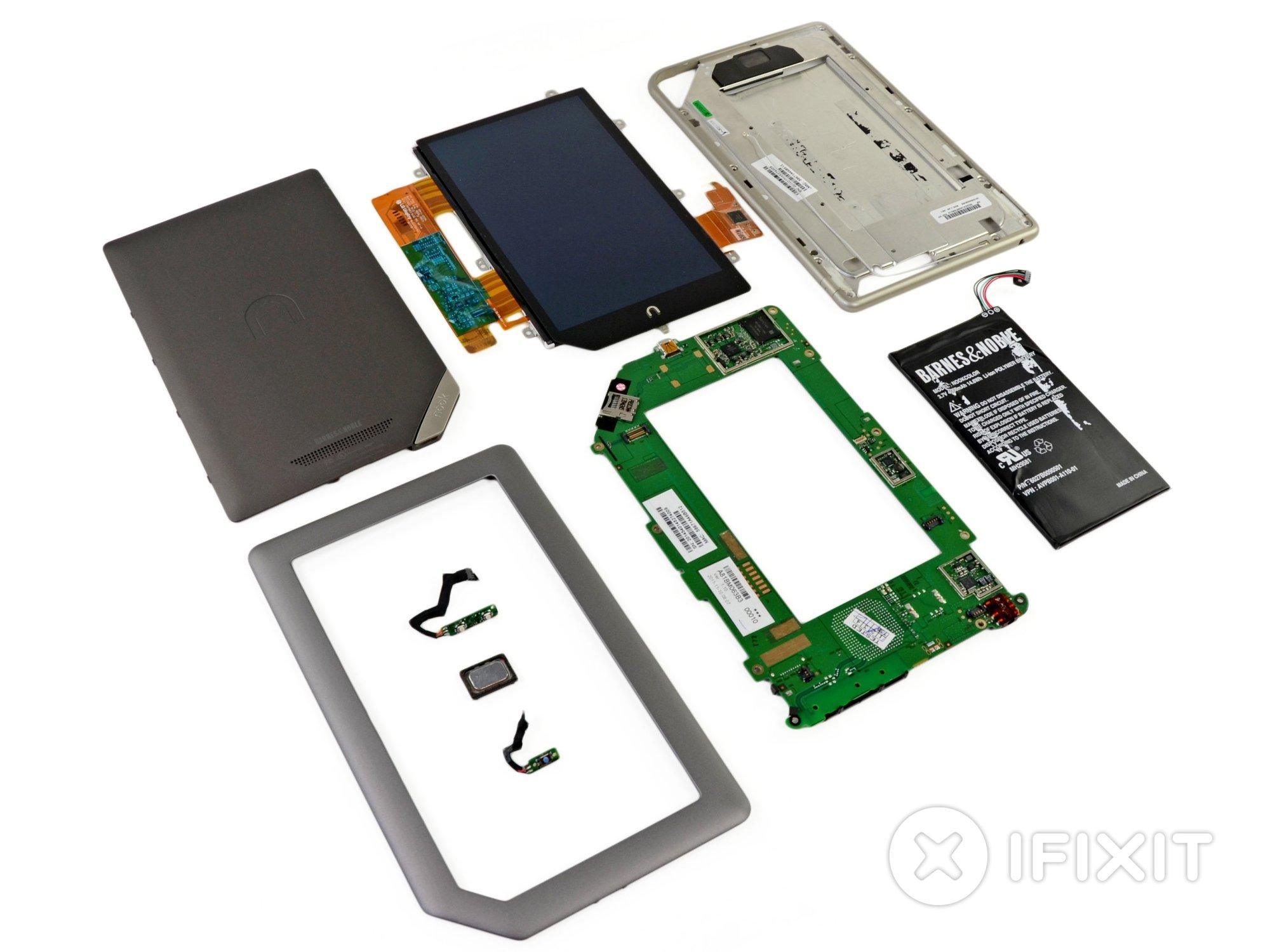 hight resolution of nook tablet teardown ifixit nook motherboard diagram