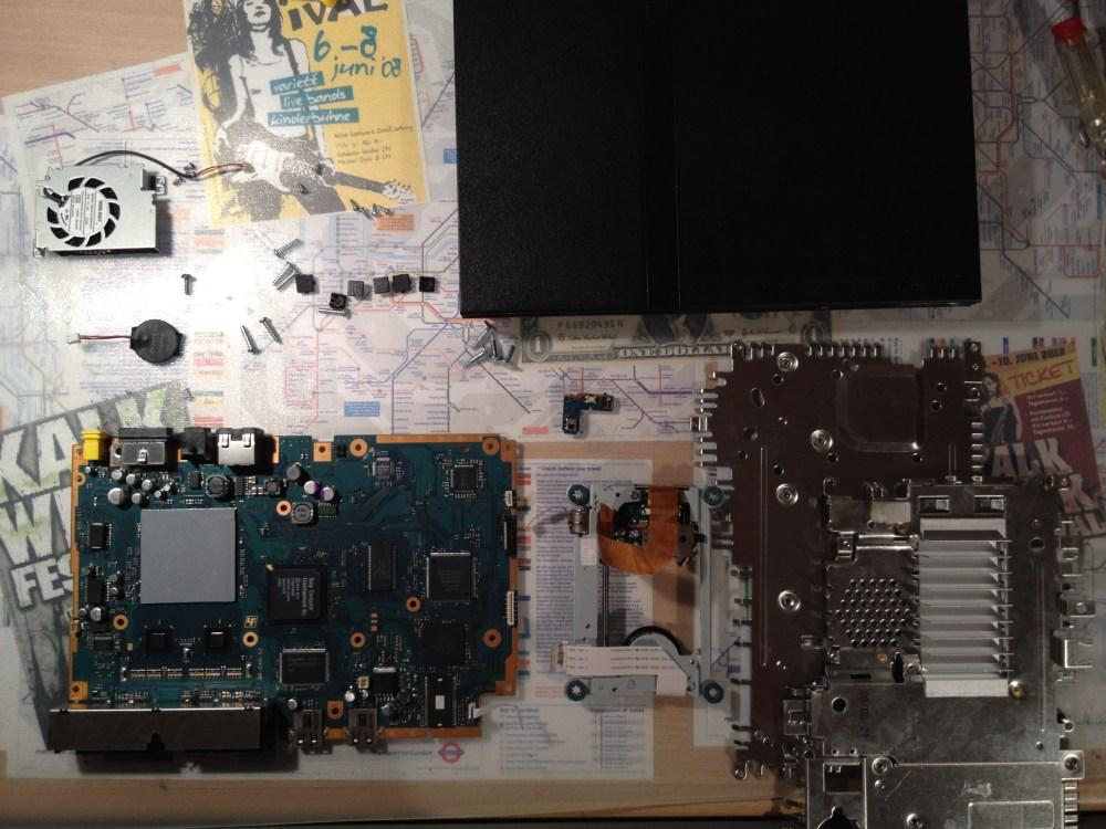 medium resolution of playstation 2 slimline teardown disassembly