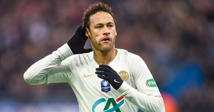 Neymar celebrates goal in French Cup final