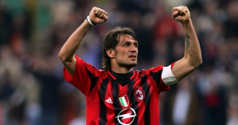 Forget about Paolo Maldini's defending and just *look* at his ...