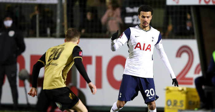 Watch: Tottenham bench burst out laughing after Dele Alli falls over - Planet Football