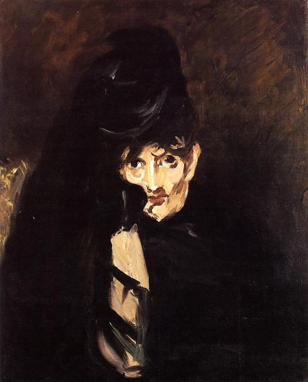 Painting of Manet by Berthe Morisot