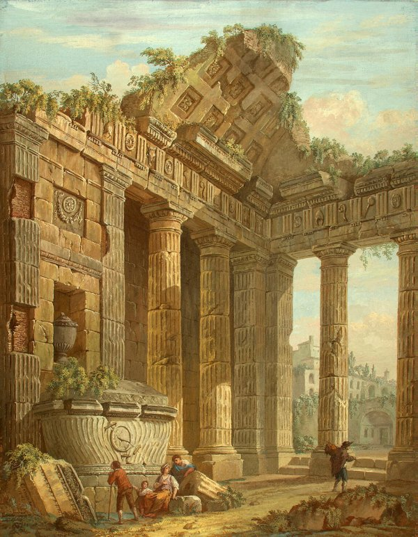 Architectural Fantasy Painting Clerisseau Charles-louis
