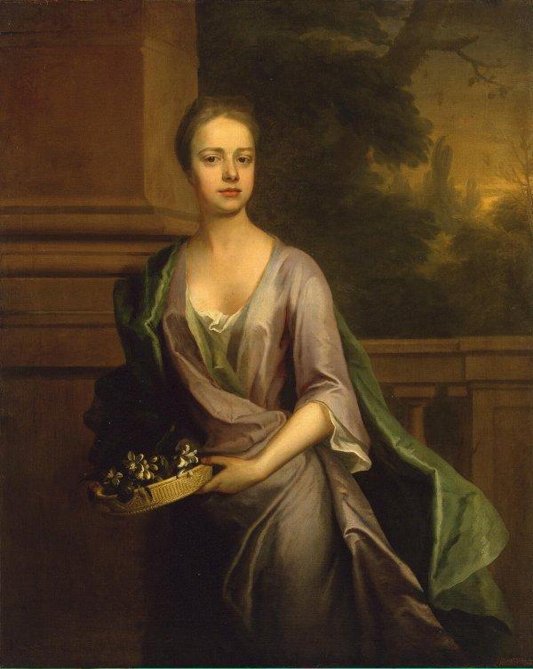 Portrait Of Woman Painting Dahl Michael Oil Paintings