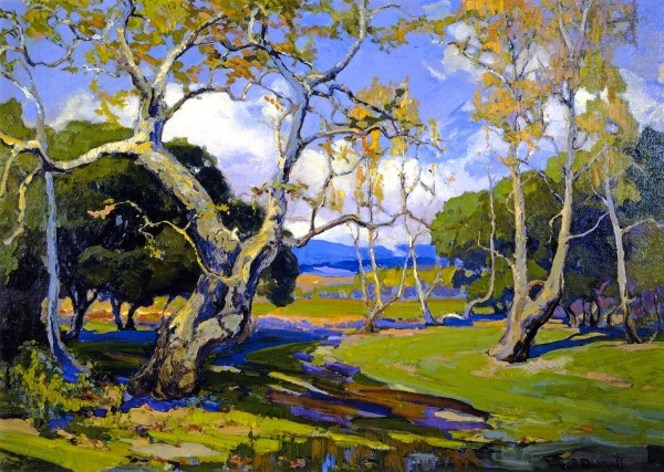 California Woodland Painting Franz Bischoff Oil Paintings