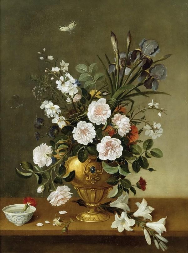 Vase Of Flowers Painting Pedro De Camprobin Oil Paintings