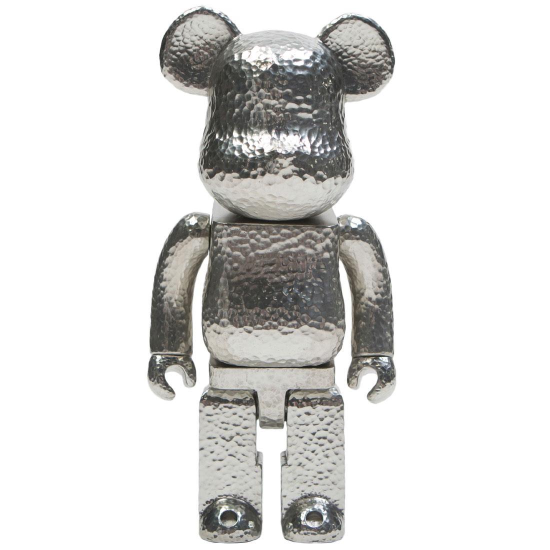 Medicom Royal Selangor 400% Bearbrick Figure silver