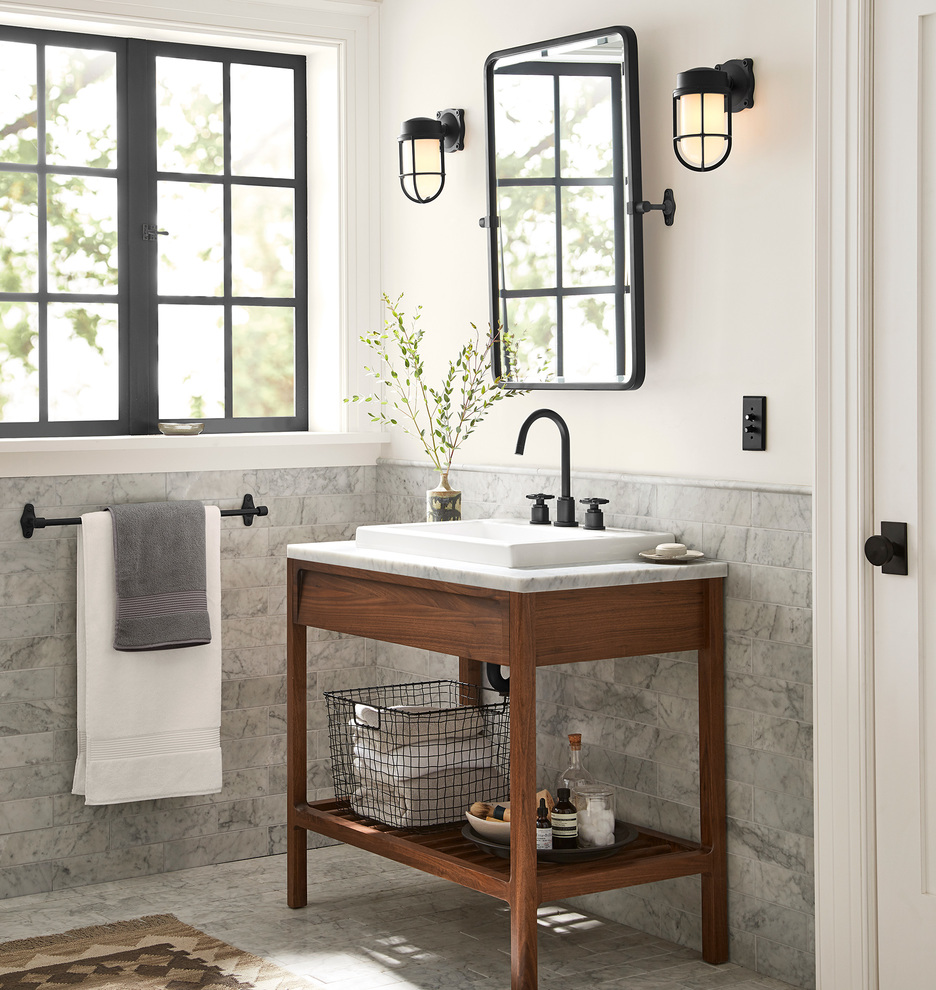 Elkton Walnut Single Vanity Rejuvenation