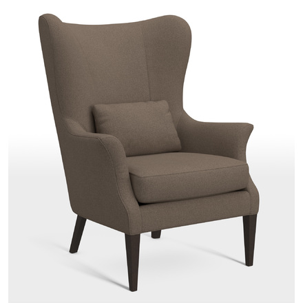 modern twine curved arm sofa moss studio reviews armchairs recliners side chairs leather upholstered clinton wingback chair