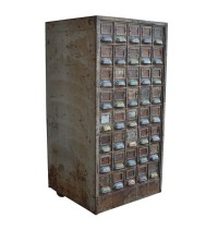 Industrial Steel 40-Drawer Fireproof Filing Cabinet ...