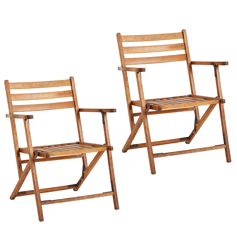 Folding Lounge Chair Pair Of Classic Wooden Folding Lounge Chairs