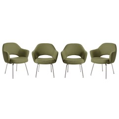 Set Of 4 Chairs Linen Accent Chair Reupholstered Saarinen Executive For Knoll Generating A Preview Image Your Customized Product