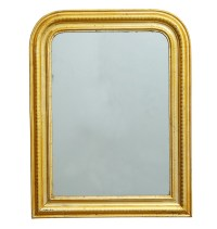 Large Arched Louis Philippe Mirror w/ Gold Gilt Frame
