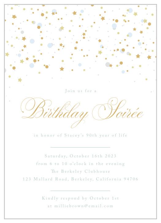 90th birthday invitations design