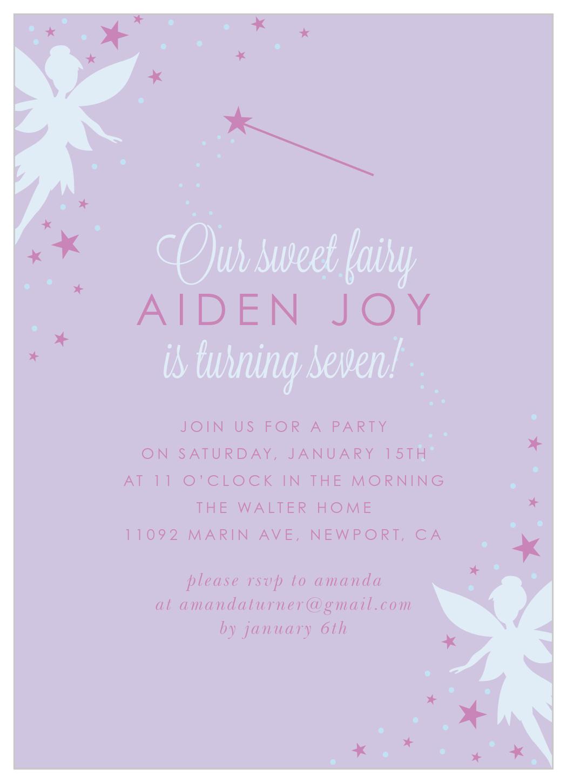 woodland fairies children s birthday invitations
