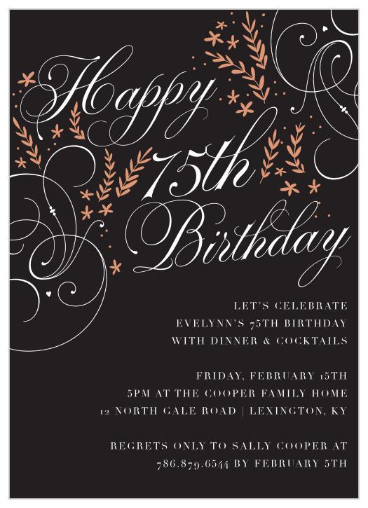 75th milestone birthday party