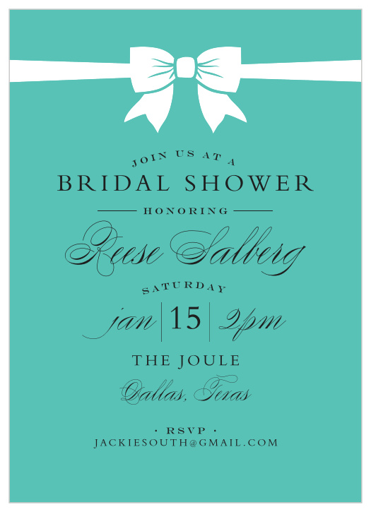 If you're planning to host a one, check out these 10 fun ideas for a bridal shower party. Tiffany Bridal Shower Invitations Match Your Color Style Free