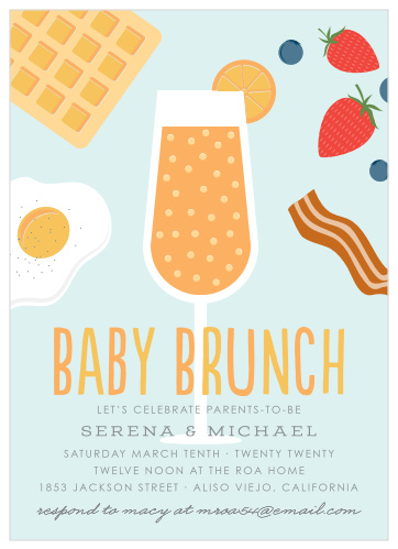 Potluck Baby Shower Invitation Template : potluck, shower, invitation, template, Shower, Brunch, Invitations, Match, Color, Style, Free!
