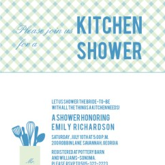 Kitchen Bridal Shower Hansgrohe Faucet Costco Invitations Match Your Color Style Free Textile
