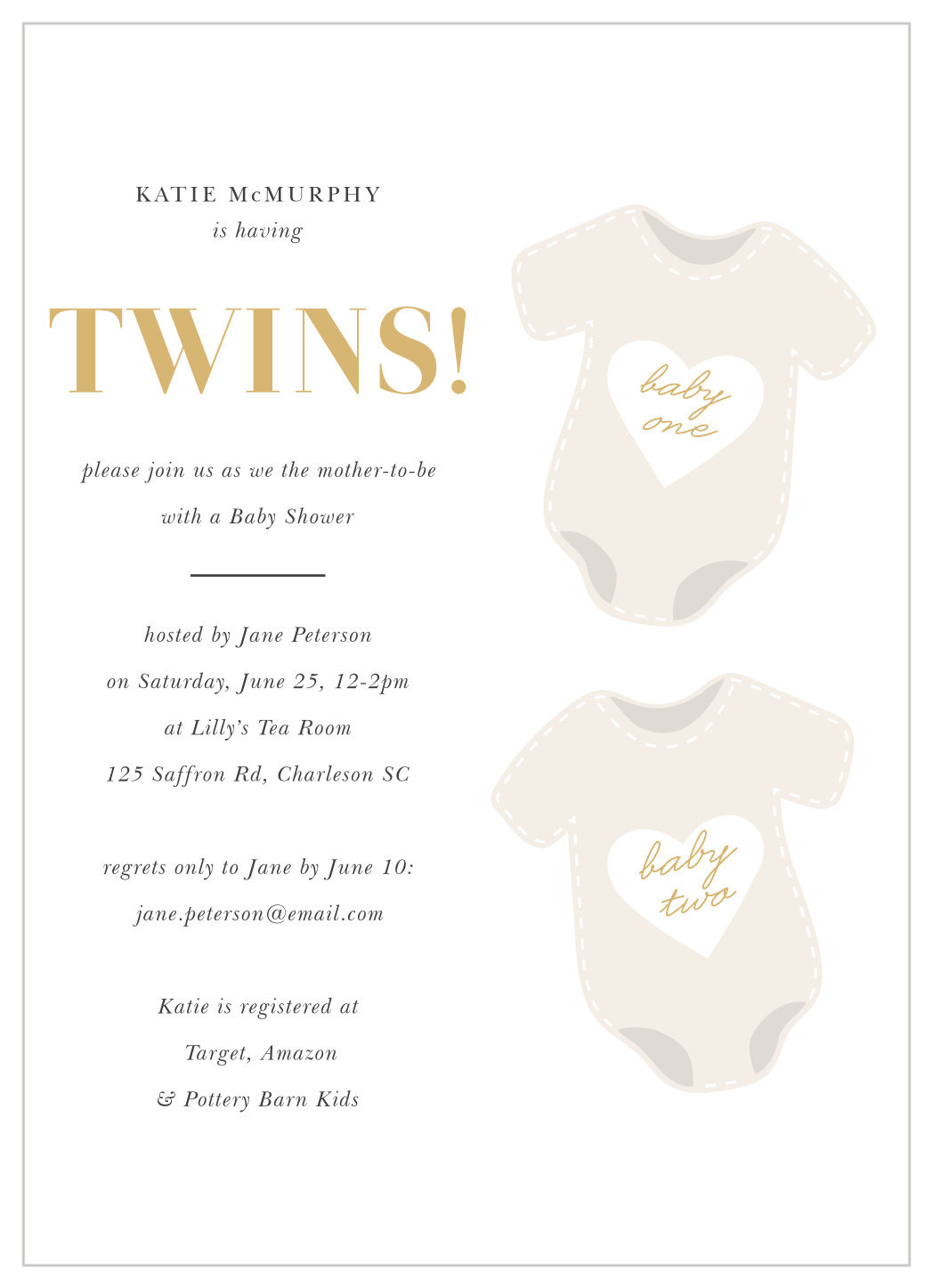 Baby Shower Invitation Wording For Twins