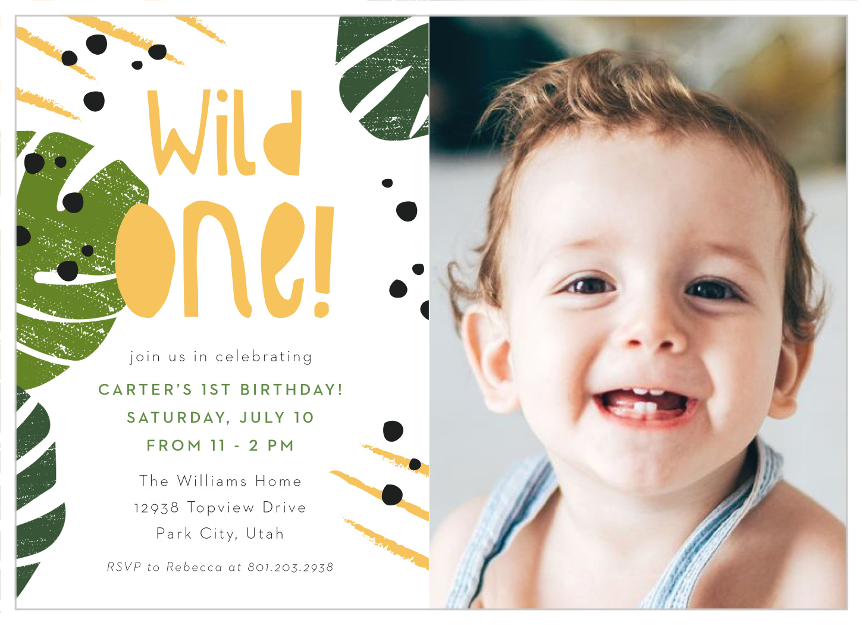 wild one first birthday invitations