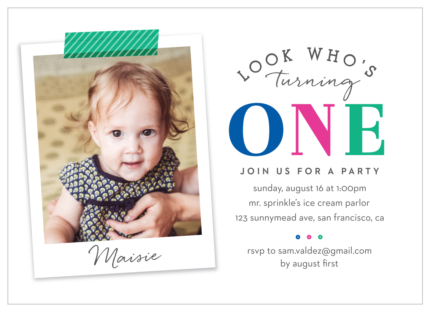 look who s turning one first birthday invitations