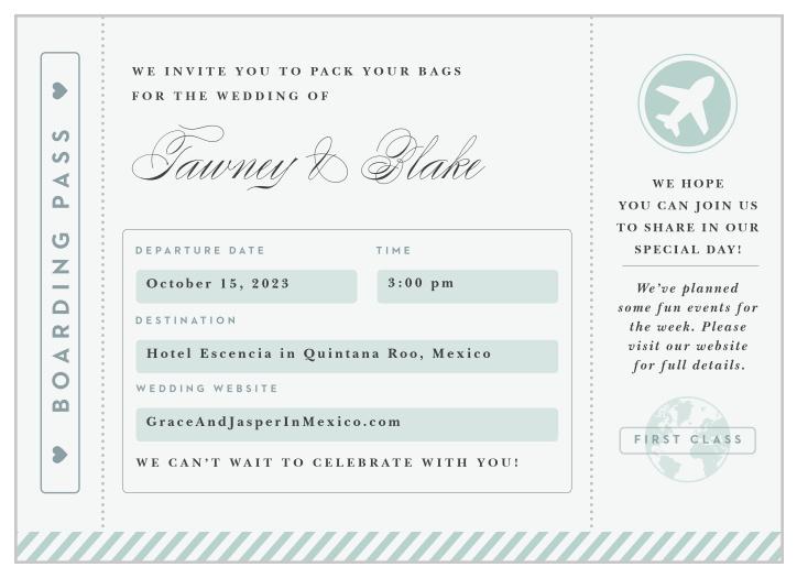 passport wedding invitations match