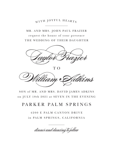 vintage wedding invitations match
