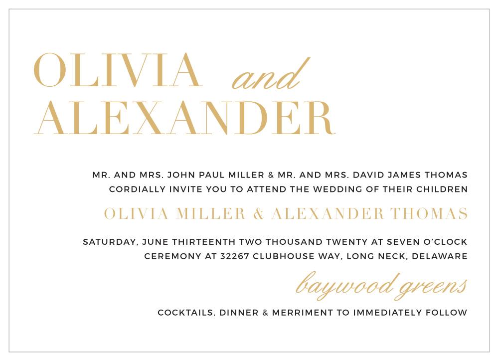 typography foil landscape wedding