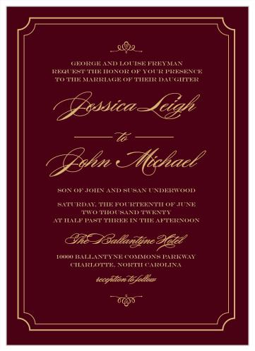 elegant wedding invitations match
