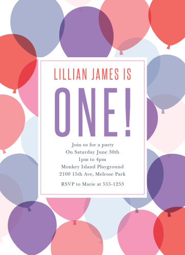 girls first birthday invitations
