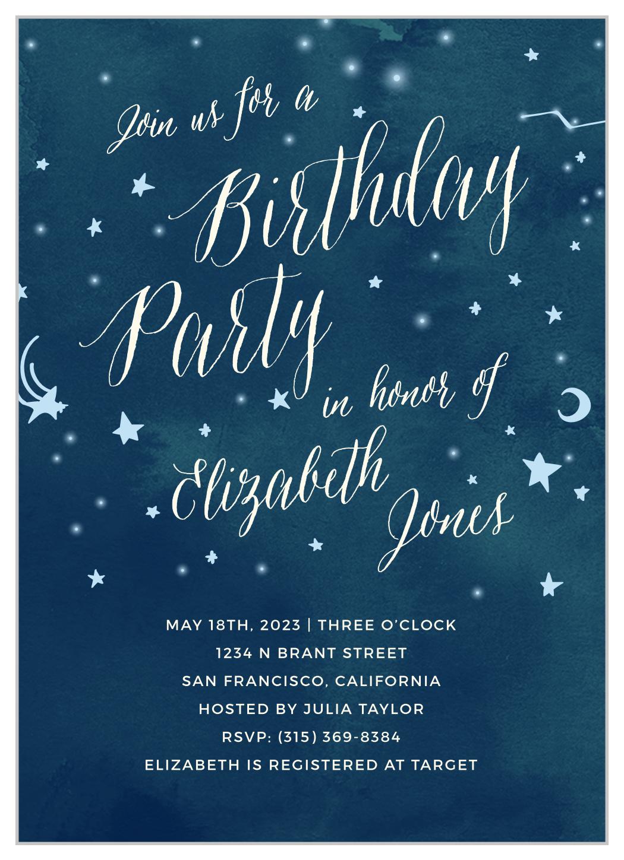 twinkle twinkle first birthday invitations